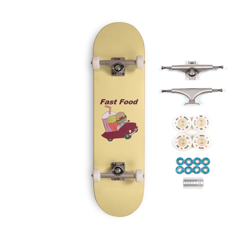 Fast Food Accessories Complete - Premium Skateboard by Hello Siyi