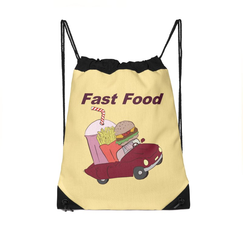 Fast Food Accessories Drawstring Bag Bag by Hello Siyi