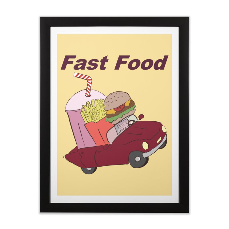 Fast Food Home Framed Fine Art Print by Hello Siyi