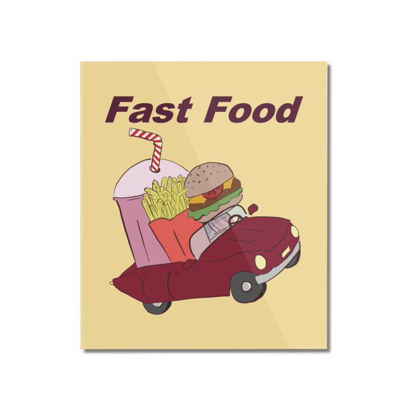 Fast Food Home Mounted Acrylic Print by Hello Siyi
