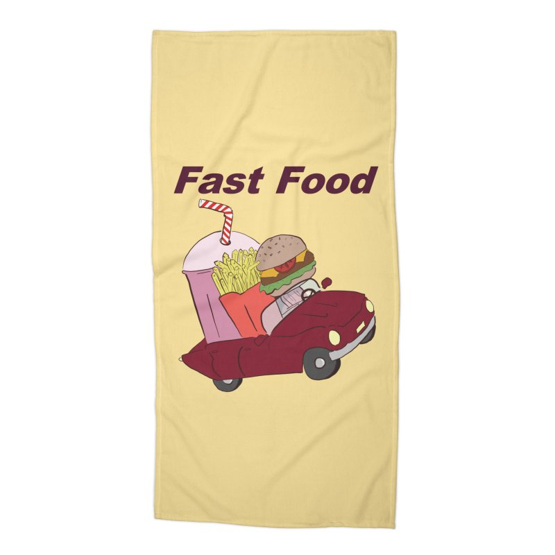 Fast Food Accessories Beach Towel by Hello Siyi