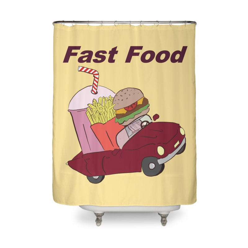 Fast Food Home Shower Curtain by Hello Siyi