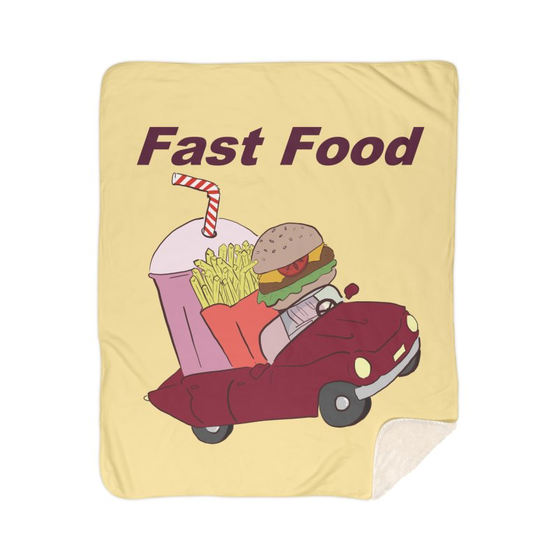Fast Food Home Sherpa Blanket Blanket by Hello Siyi