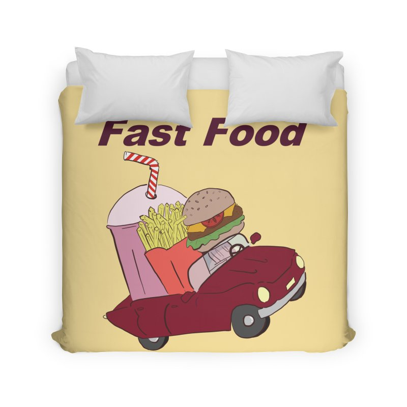 Fast Food Home Duvet by Hello Siyi