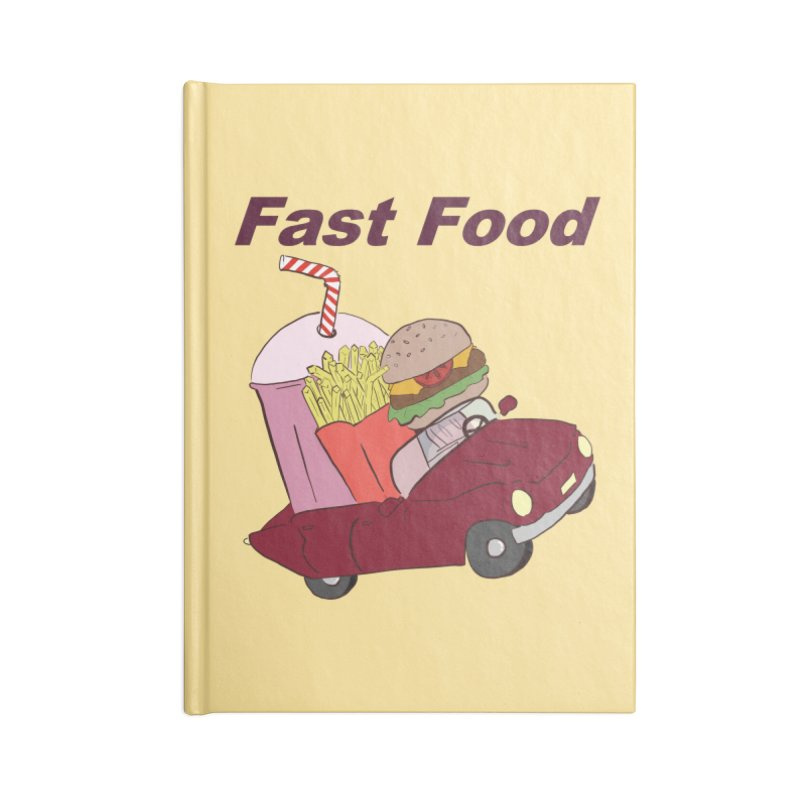 Fast Food Accessories Lined Journal Notebook by Hello Siyi