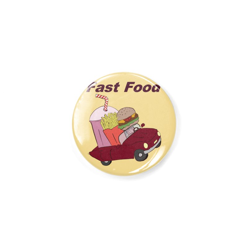 Fast Food Accessories Button by Hello Siyi