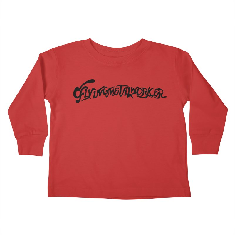 Flying Metal Worker Kids Toddler Longsleeve T-Shirt by Hello Siyi