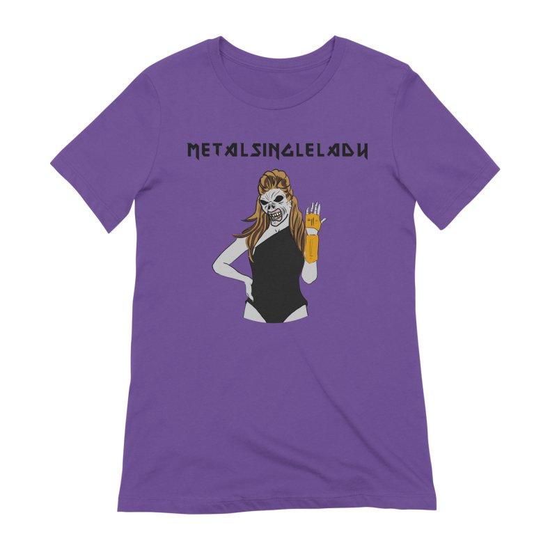 Metal Single Lady Women's Extra Soft T-Shirt by Hello Siyi