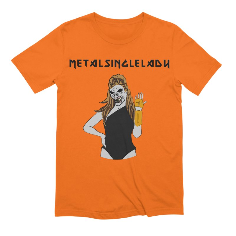 Metal Single Lady Men's Extra Soft T-Shirt by Hello Siyi