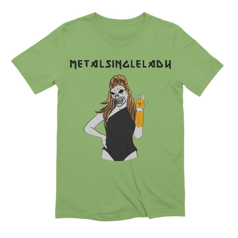 Metal Single Lady Men's Extra Soft T-Shirt by Hello Siyi
