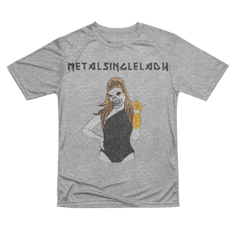 Metal Single Lady Women's Performance Unisex T-Shirt by Hello Siyi