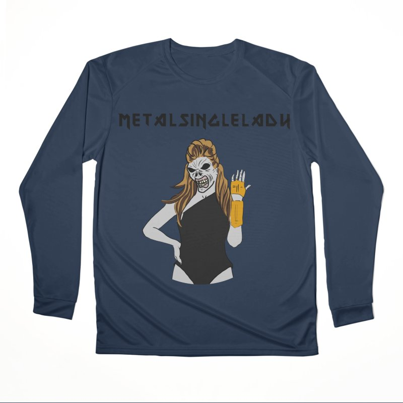 Metal Single Lady Men's Performance Longsleeve T-Shirt by Hello Siyi