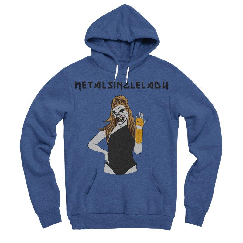 Metal Single Lady Men's Sponge Fleece Pullover Hoody by Hello Siyi
