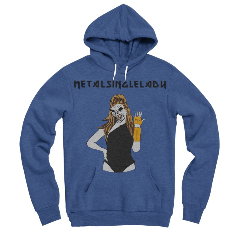 Metal Single Lady Women's Sponge Fleece Pullover Hoody by Hello Siyi