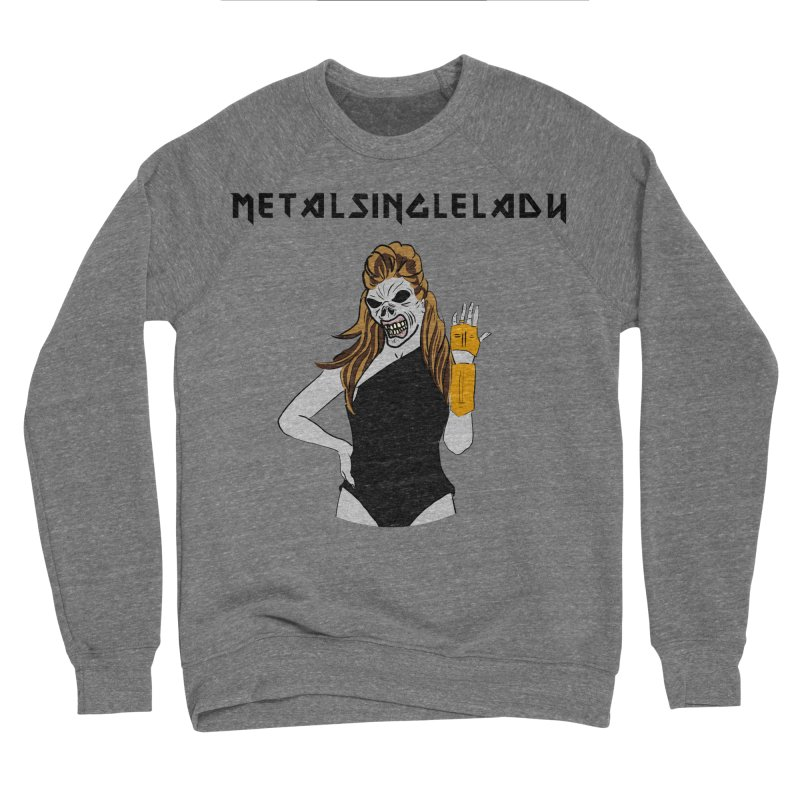 Metal Single Lady Men's Sponge Fleece Sweatshirt by Hello Siyi