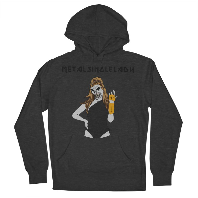 Metal Single Lady Men's French Terry Pullover Hoody by Hello Siyi