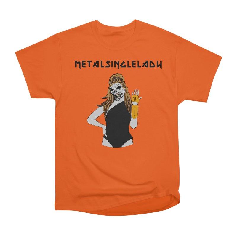Metal Single Lady Women's Heavyweight Unisex T-Shirt by Hello Siyi
