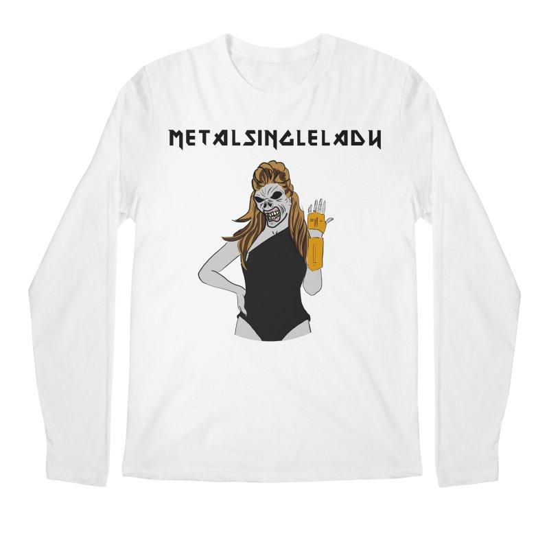 Metal Single Lady Men's Regular Longsleeve T-Shirt by Hello Siyi