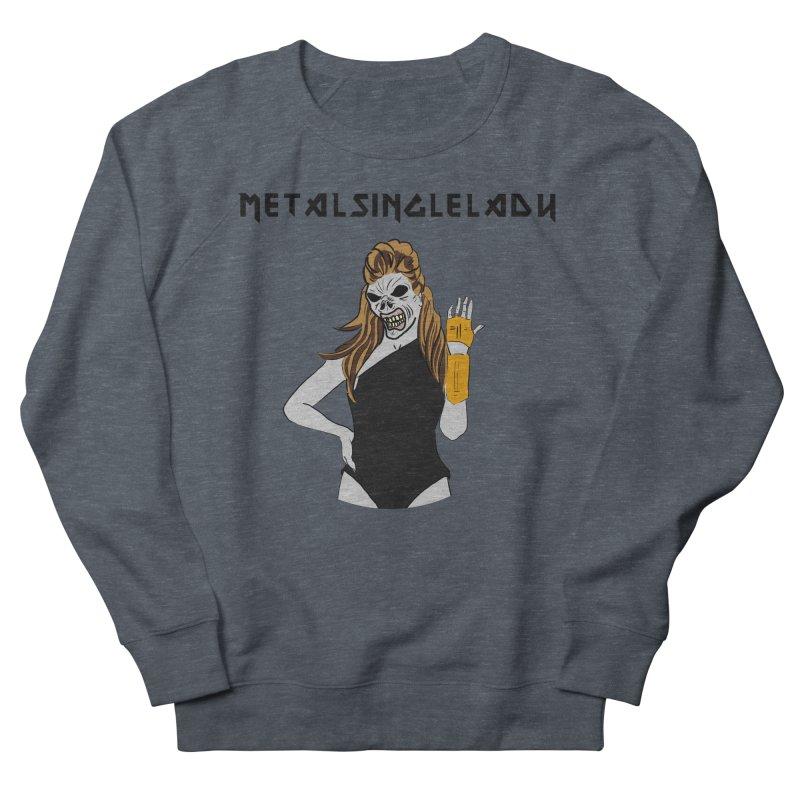 Metal Single Lady Men's French Terry Sweatshirt by Hello Siyi