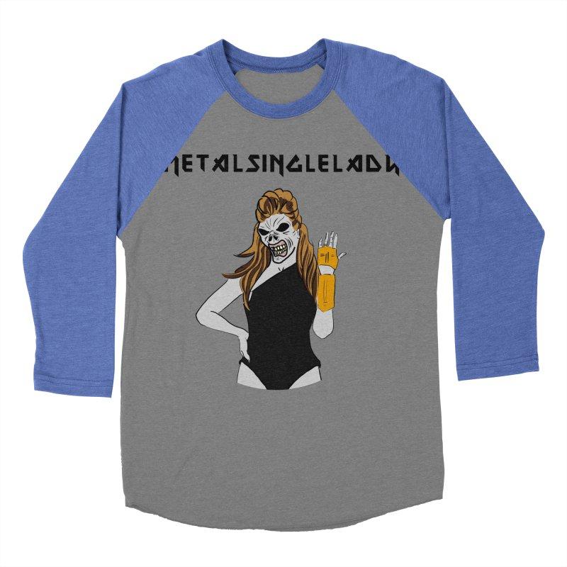 Metal Single Lady Women's Baseball Triblend Longsleeve T-Shirt by Hello Siyi