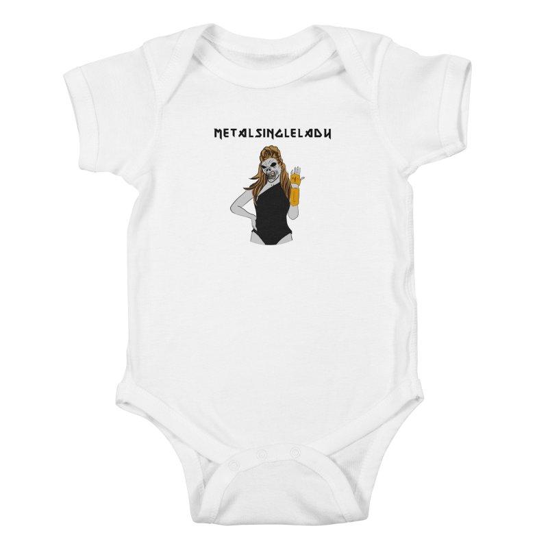 Metal Single Lady Kids Baby Bodysuit by Hello Siyi