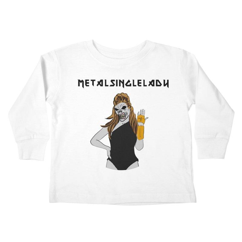 Metal Single Lady Kids Toddler Longsleeve T-Shirt by Hello Siyi