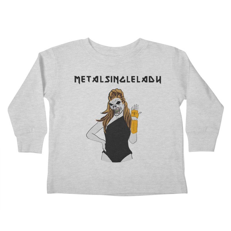 Metal Single Lady Kids Toddler Longsleeve T-Shirt by Hello Siyi