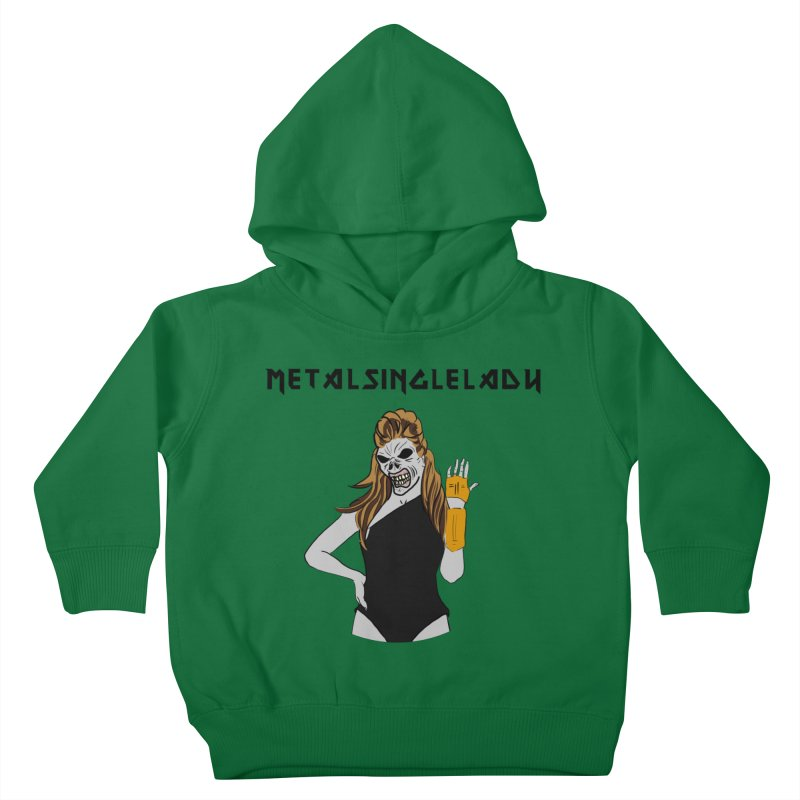 Metal Single Lady Kids Toddler Pullover Hoody by Hello Siyi