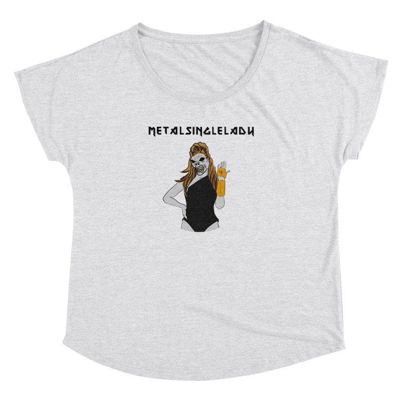 Metal Single Lady Women's Dolman Scoop Neck by Hello Siyi