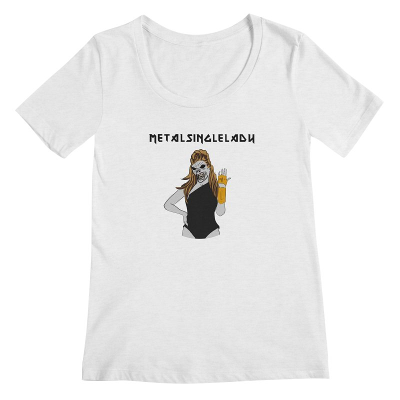 Metal Single Lady Women's Regular Scoop Neck by Hello Siyi