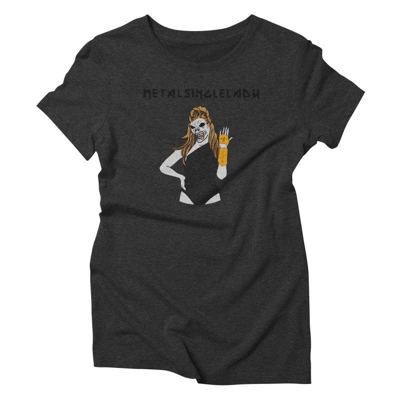Metal Single Lady Women's Triblend T-Shirt by Hello Siyi
