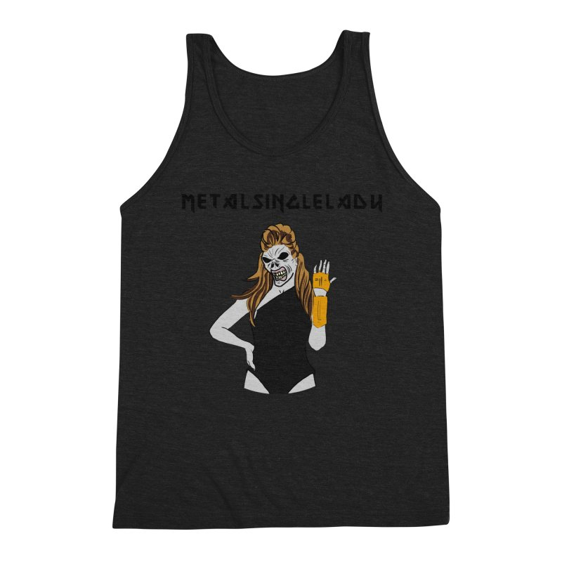 Metal Single Lady Men's Triblend Tank by Hello Siyi