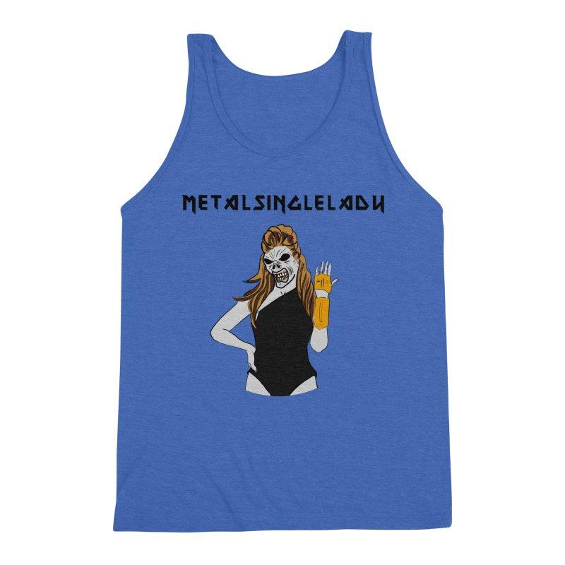 Metal Single Lady Men's Triblend Tank by Hello Siyi
