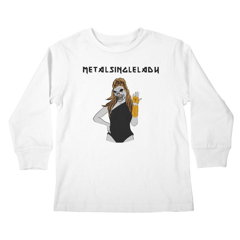 Metal Single Lady Kids Longsleeve T-Shirt by Hello Siyi