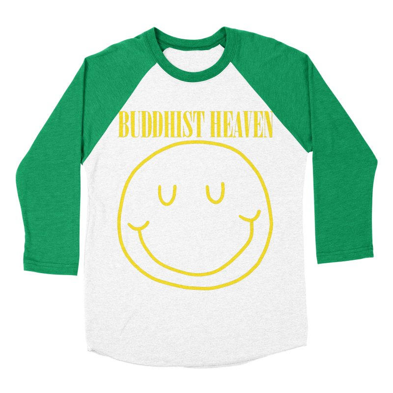 Buddhist Heaven Men's Baseball Triblend Longsleeve T-Shirt by Hello Siyi