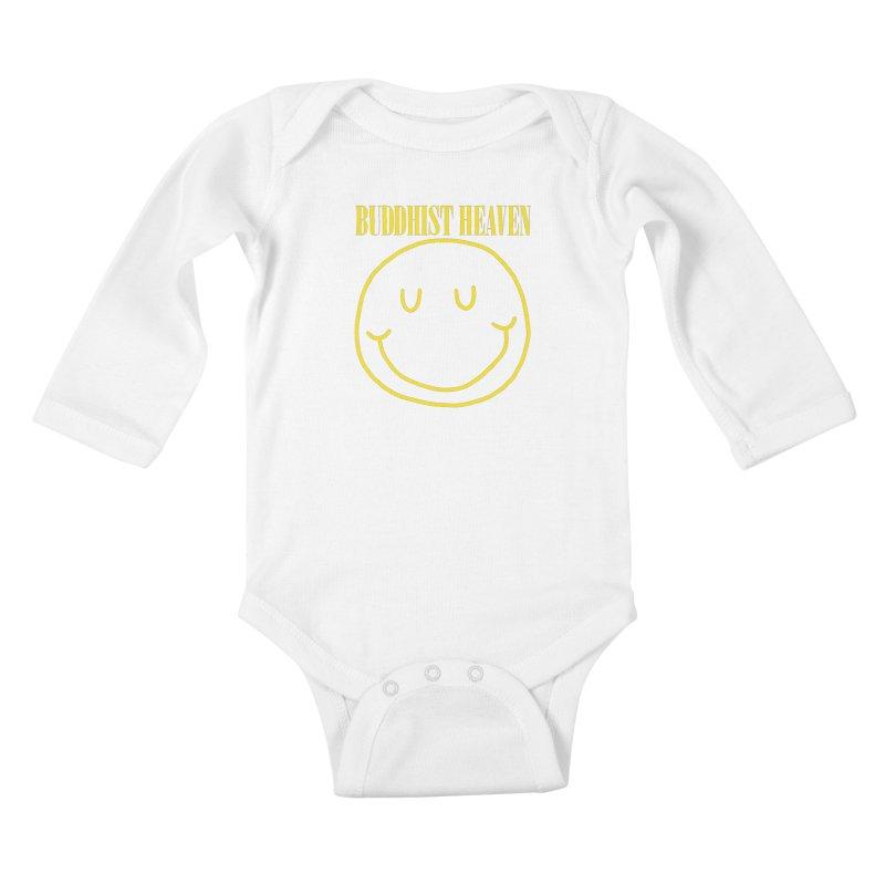 Buddhist Heaven Kids Baby Longsleeve Bodysuit by Hello Siyi