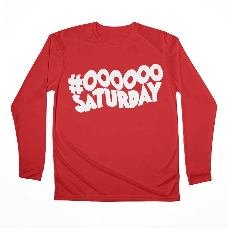 #000000 Saturday Women's Performance Unisex Longsleeve T-Shirt by Hello Siyi