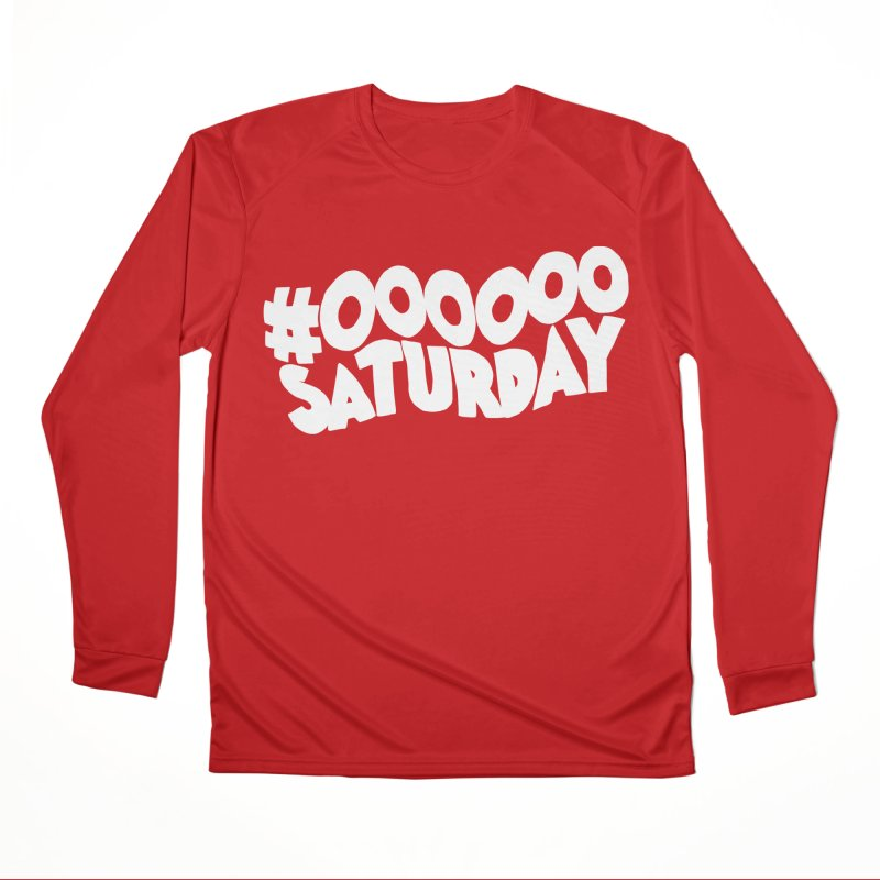 #000000 Saturday Men's Performance Longsleeve T-Shirt by Hello Siyi