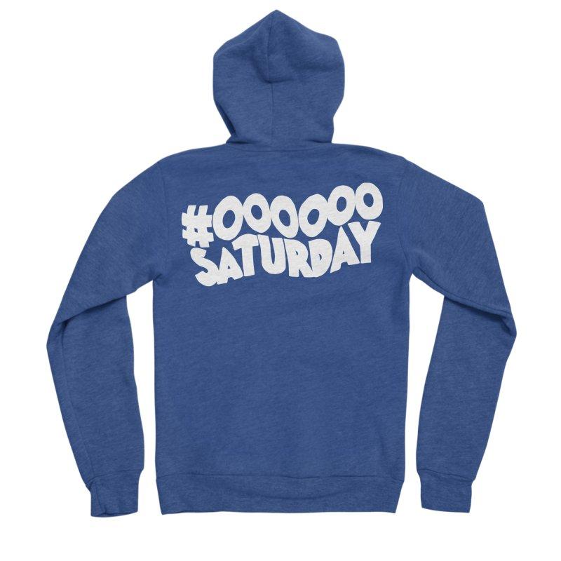 #000000 Saturday Men's Sponge Fleece Zip-Up Hoody by Hello Siyi
