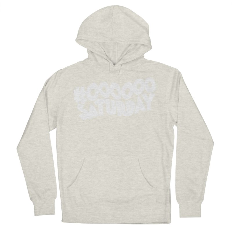 #000000 Saturday Men's French Terry Pullover Hoody by Hello Siyi