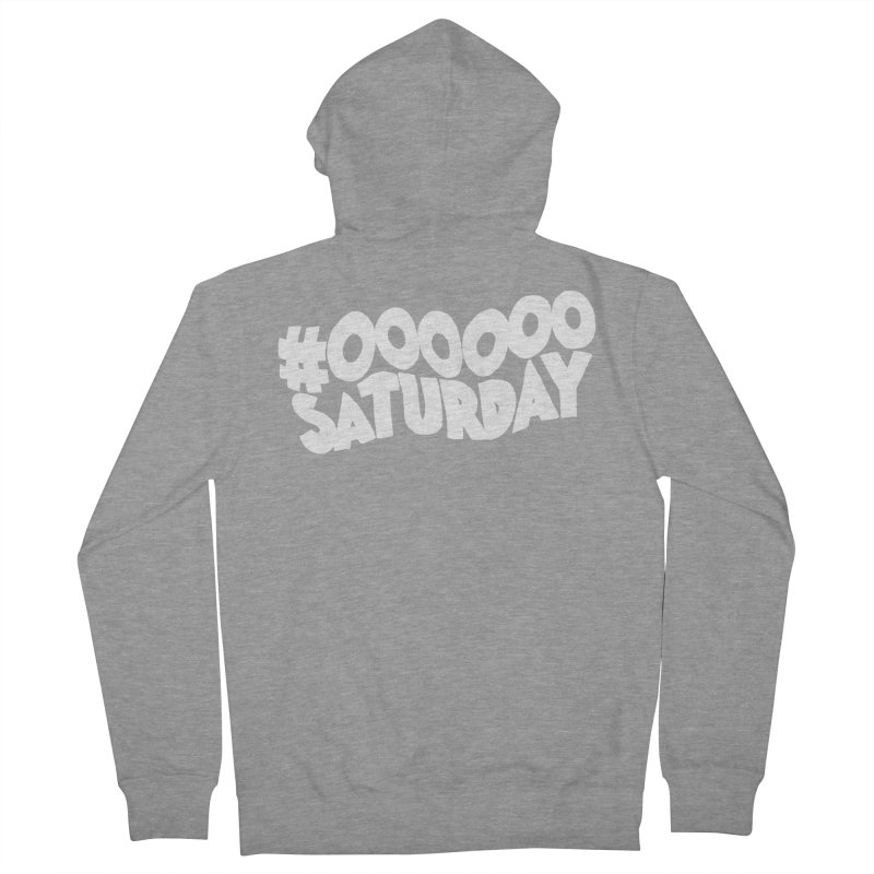 #000000 Saturday Men's French Terry Zip-Up Hoody by Hello Siyi