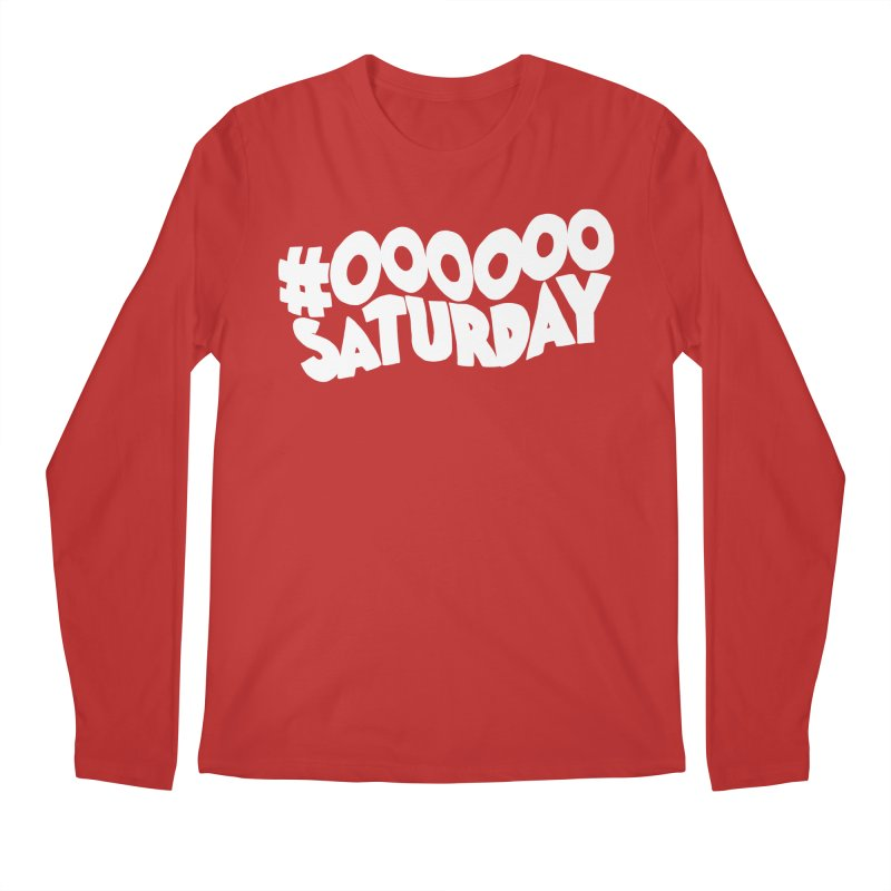 #000000 Saturday Men's Regular Longsleeve T-Shirt by Hello Siyi