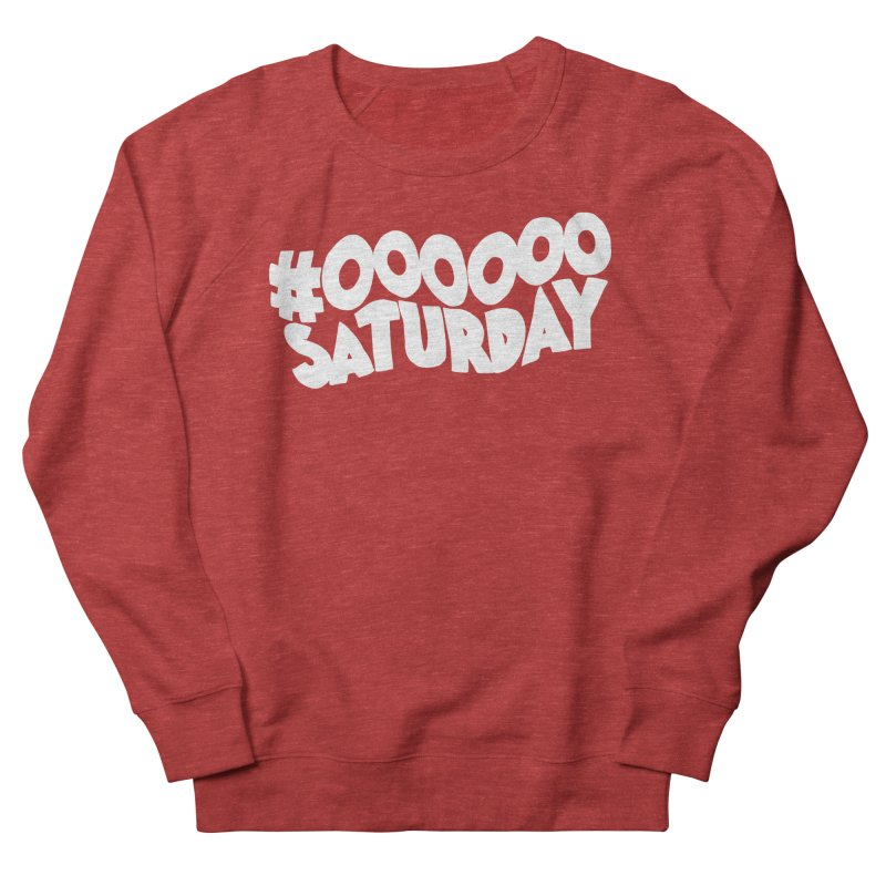 #000000 Saturday Women's French Terry Sweatshirt by Hello Siyi