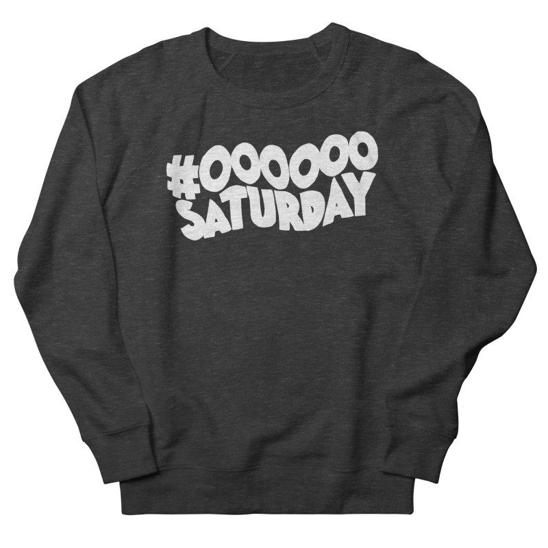 #000000 Saturday Men's French Terry Sweatshirt by Hello Siyi