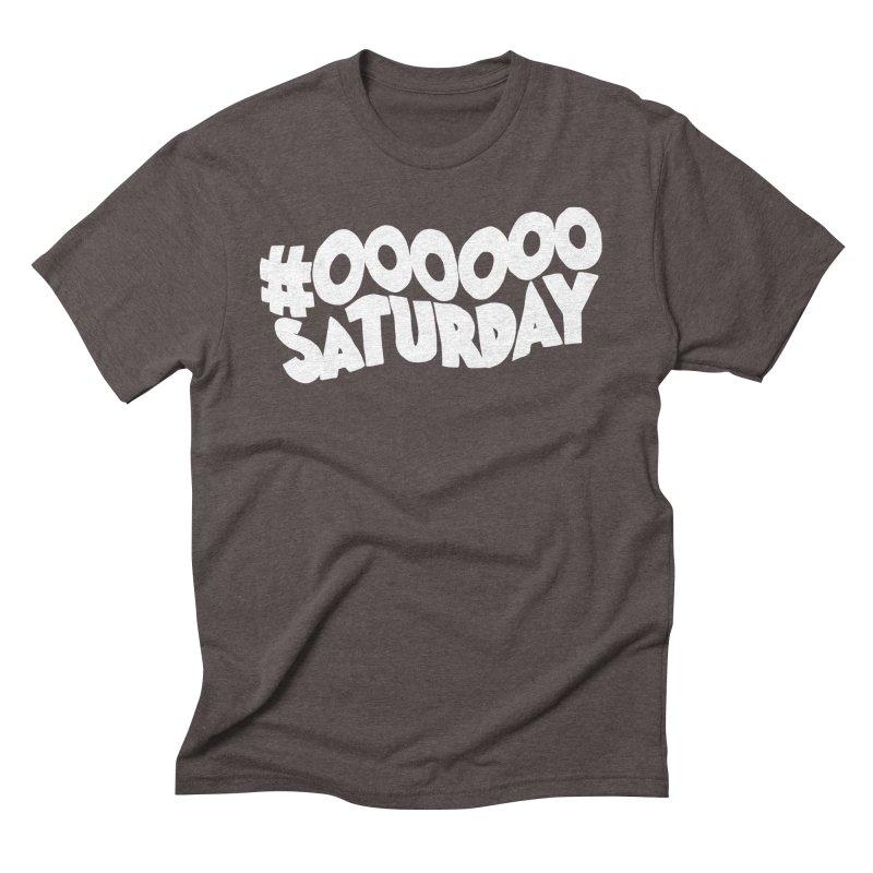 #000000 Saturday Men's Triblend T-Shirt by Hello Siyi