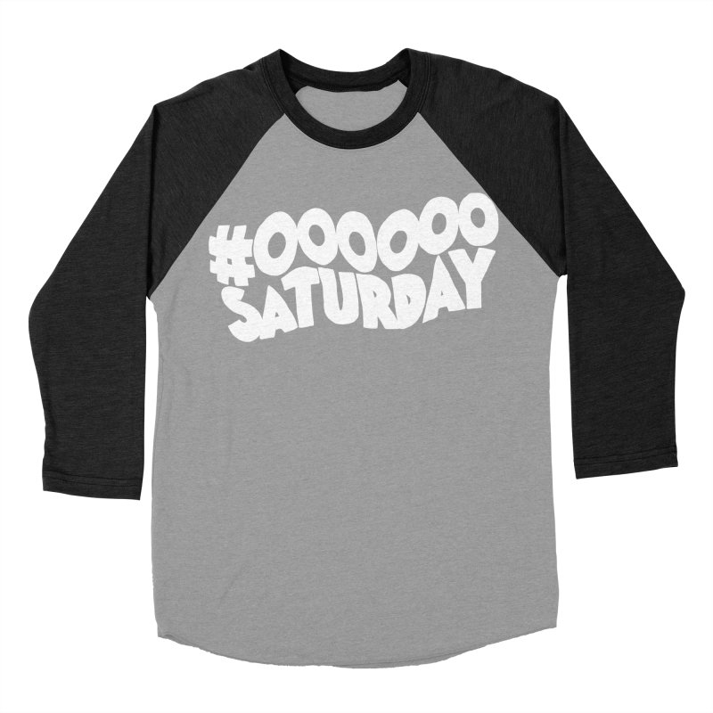 #000000 Saturday Women's Baseball Triblend Longsleeve T-Shirt by Hello Siyi