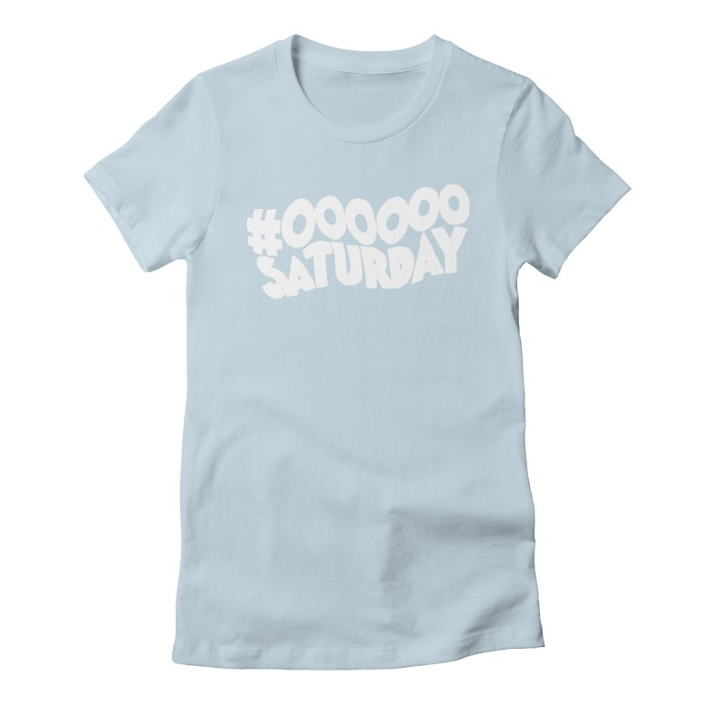 #000000 Saturday Women's Fitted T-Shirt by Hello Siyi