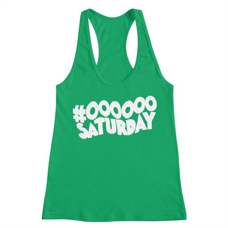 #000000 Saturday Women's Racerback Tank by Hello Siyi