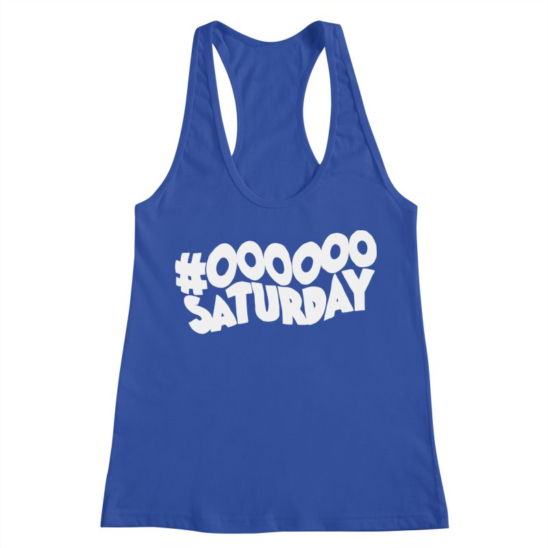 #000000 Saturday Women's Racerback Tank by Hello Siyi