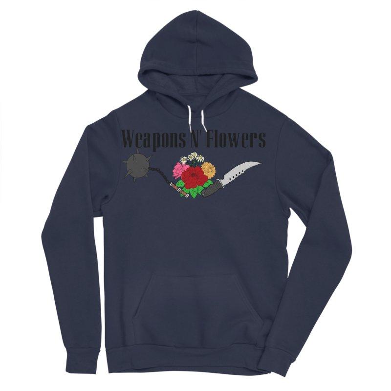Weapons N' Flowers Men's Sponge Fleece Pullover Hoody by Hello Siyi